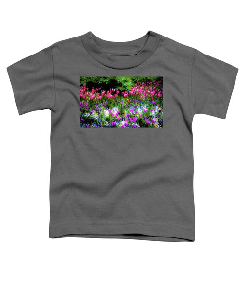 Garden Flowers With Tulips Toddler T-Shirt