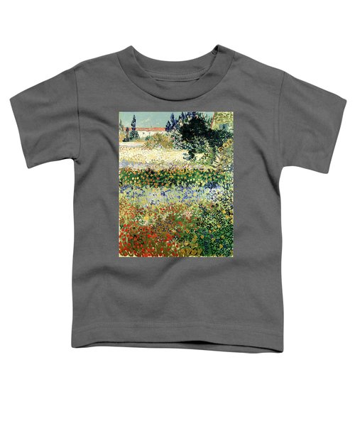 Toddler T-Shirt featuring the painting Garden In Bloom by Van Gogh