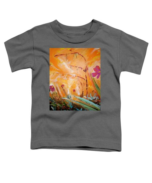 Toddler T-Shirt featuring the painting Garden Moment by Winsome Gunning
