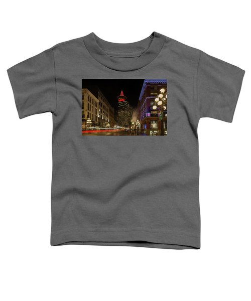 Gastown In Vancouver Bc At Night Toddler T-Shirt
