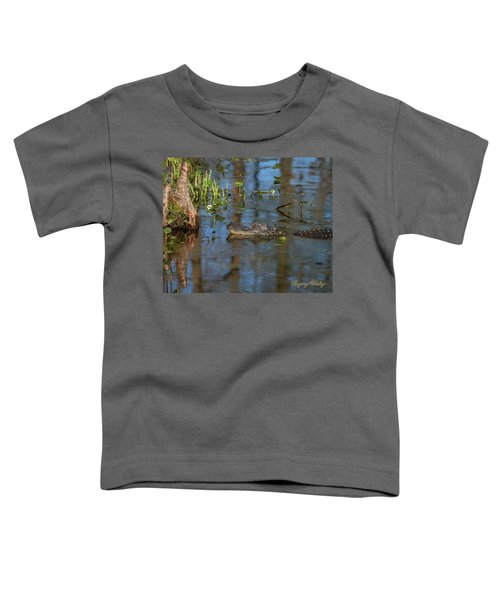 Gator In Cypress Lake 3 Toddler T-Shirt