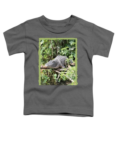 Gator In Green Toddler T-Shirt by Carol Groenen