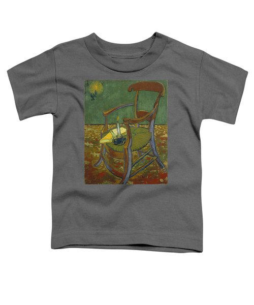 Toddler T-Shirt featuring the painting Gauguin's Chair by Van Gogh