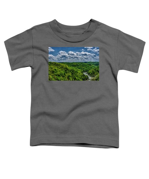 Gauley River Canyon And Clouds Toddler T-Shirt
