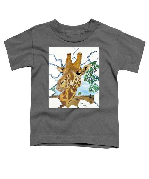 Gazing Giraffe Toddler T-Shirt