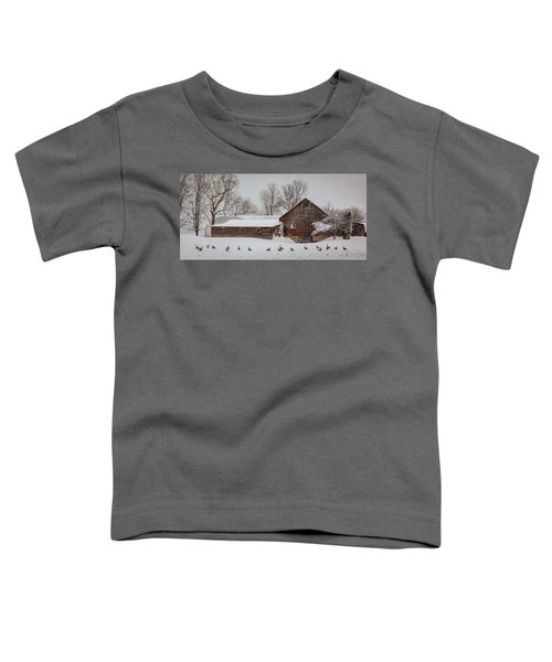 Geese In A Row Toddler T-Shirt