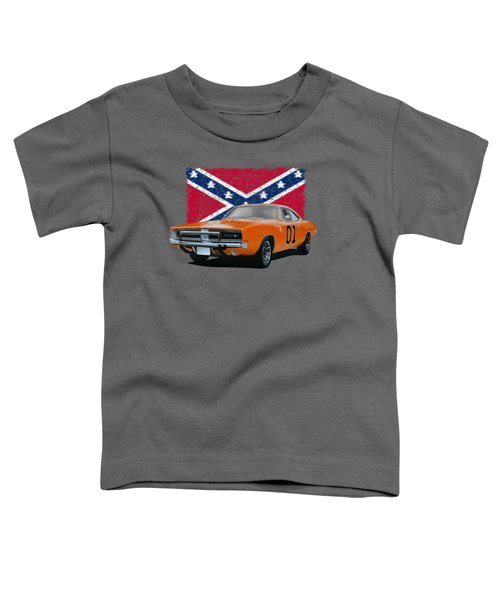General Lee Rebel Toddler T-Shirt by Paul Kuras