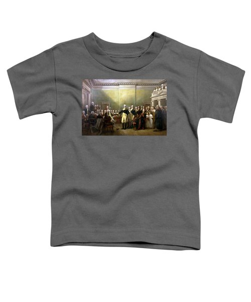 General Washington Resigning His Commission Toddler T-Shirt by War Is Hell Store