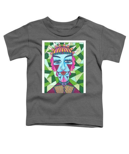 Geometric King Toddler T-Shirt