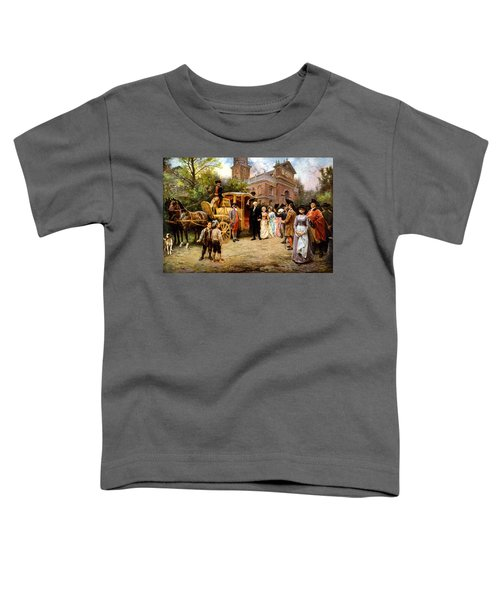 George Washington Arriving At Christ Church Toddler T-Shirt by War Is Hell Store