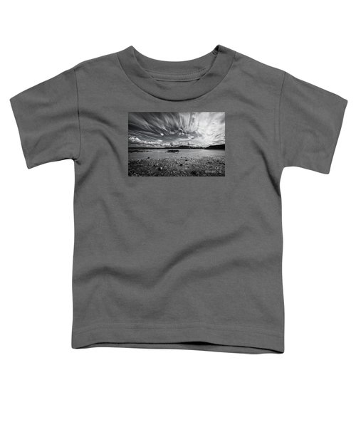 Geothermal Pool In Iceland Bw Toddler T-Shirt