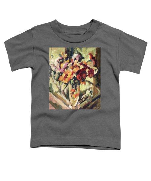 Gerberas In Glass Vase Toddler T-Shirt