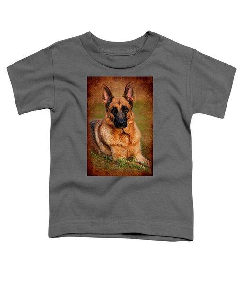 German Shepherd Dog Portrait  Toddler T-Shirt