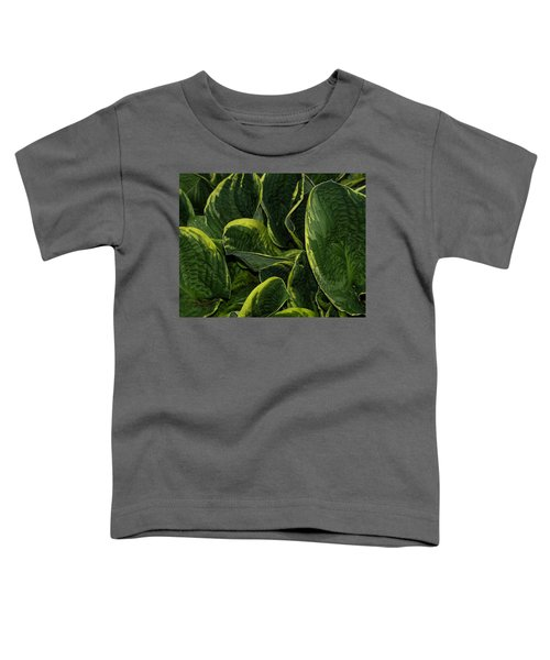 Giant Hosta Closeup Toddler T-Shirt