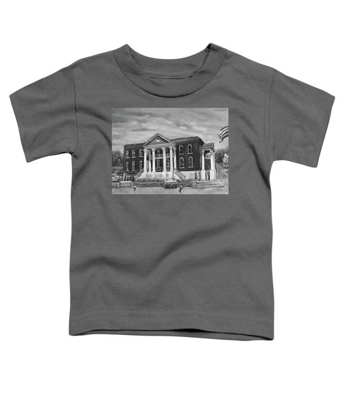 Gilmer County Old Courthouse - Black And White Toddler T-Shirt