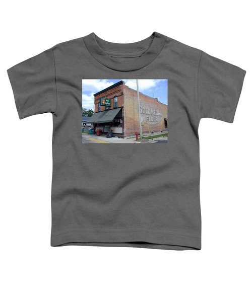 Toddler T-Shirt featuring the photograph Gina's Pies Are Square by Mark Czerniec