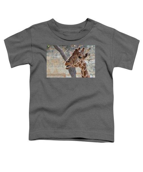 Girafe Head About To Grab Food Toddler T-Shirt