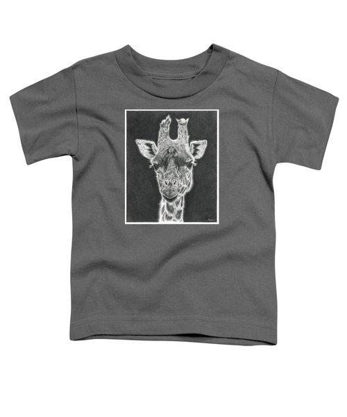 Giraffe Pencil Drawing Toddler T-Shirt