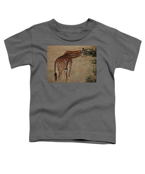 Giraffes Eating - Side View Toddler T-Shirt