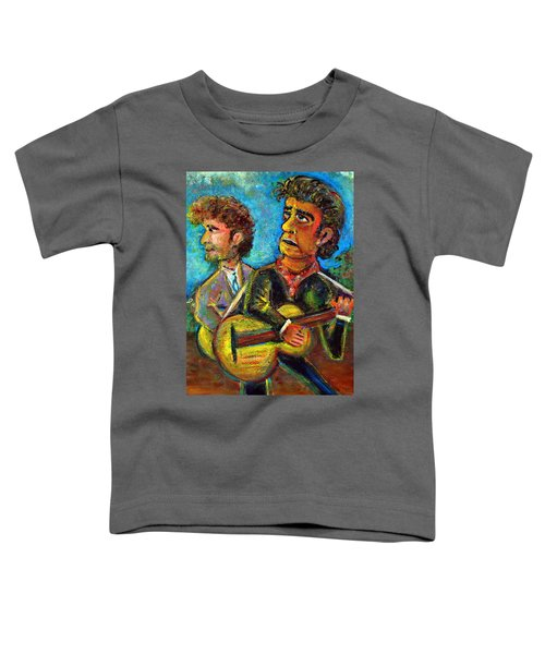 Girl From North Country Johnny Cash And Bob Dylab Toddler T-Shirt by Jason Gluskin