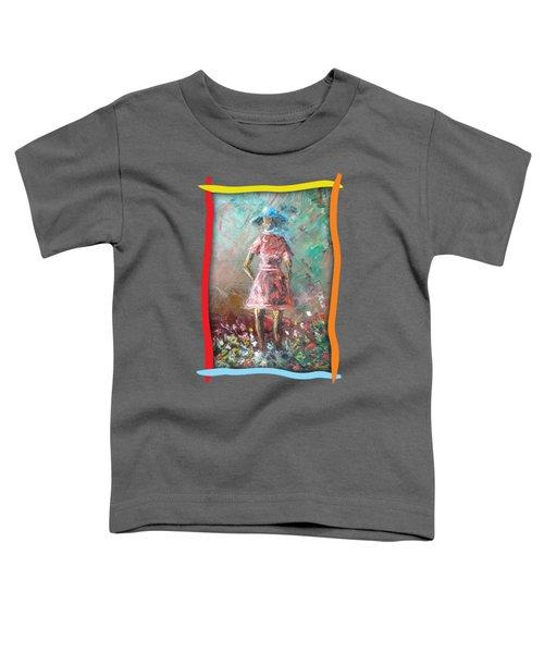 Girl In The Garden Toddler T-Shirt