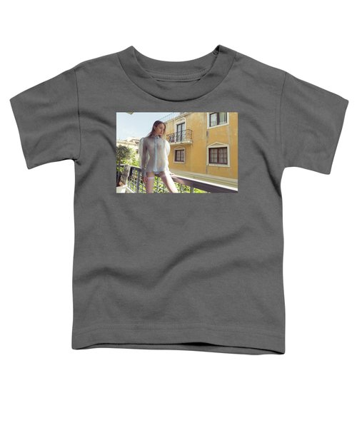 Girl On Balcony Toddler T-Shirt