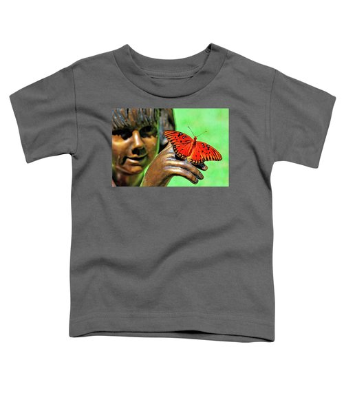 Girl With Butterfly Toddler T-Shirt