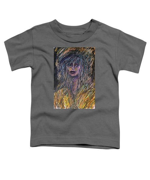Girl With Hat Toddler T-Shirt