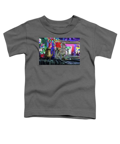 Glass In The Frame Of Colorful Hearts Toddler T-Shirt