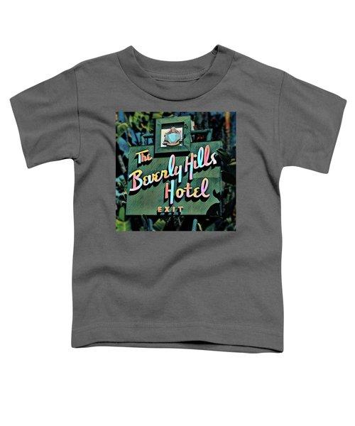 Glitzy Beverly Hills Hotel Toddler T-Shirt