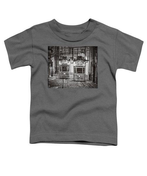 Gloria Funicular Lisbon Bw Toddler T-Shirt