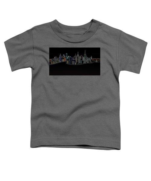 Glowing City Toddler T-Shirt
