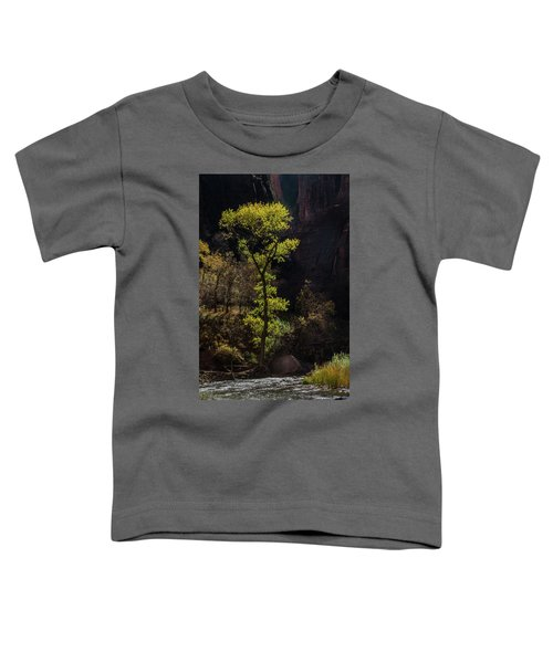 Glowing Tree At Zion Toddler T-Shirt
