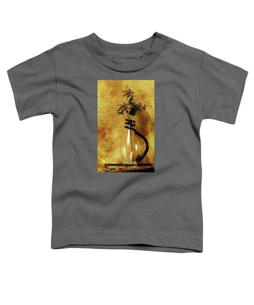 Gold Flowers In Vase Toddler T-Shirt