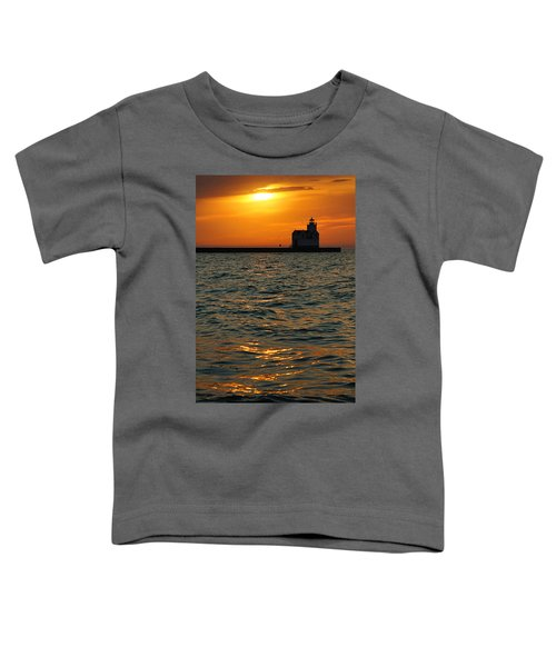 Gold On The Water Toddler T-Shirt by Bill Pevlor