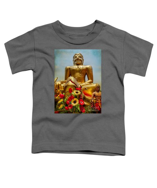 Flowers For Buddha  Toddler T-Shirt