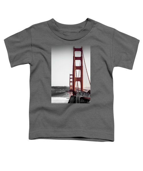 Golden Gate Black And Red Toddler T-Shirt