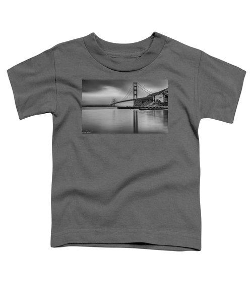 Golden Gate Black And White Toddler T-Shirt