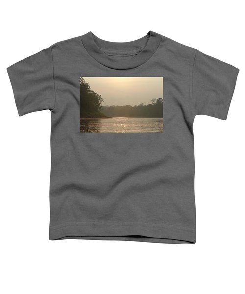 Golden Haze Covering The Amazon River Toddler T-Shirt