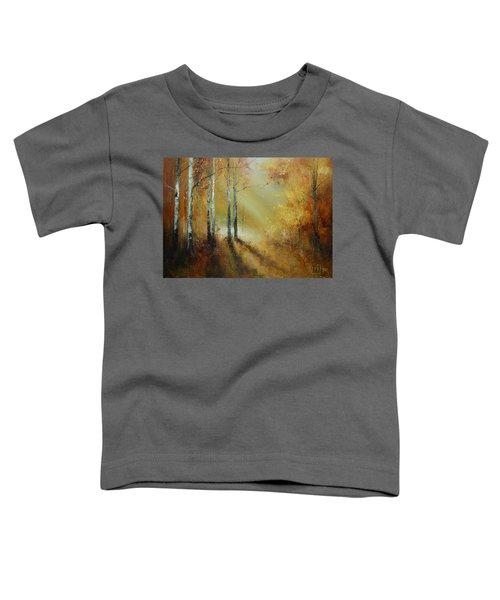 Golden Light In Autumn Woods Toddler T-Shirt