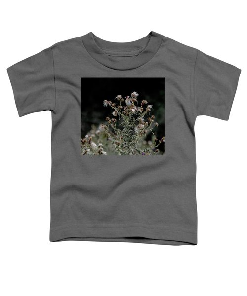 Goldfinch Sitting On A Thistle Toddler T-Shirt