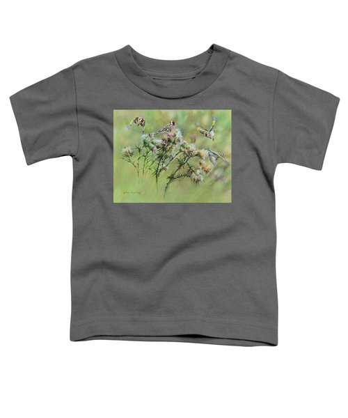 Goldfinches On Thistle Toddler T-Shirt