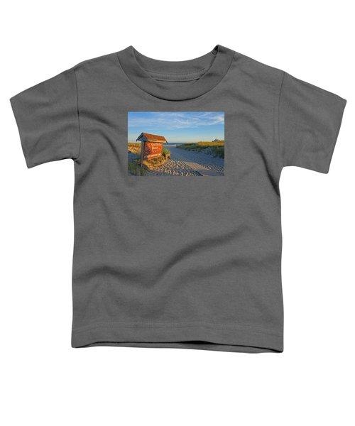 Good Harbor Sign At Sunset Toddler T-Shirt