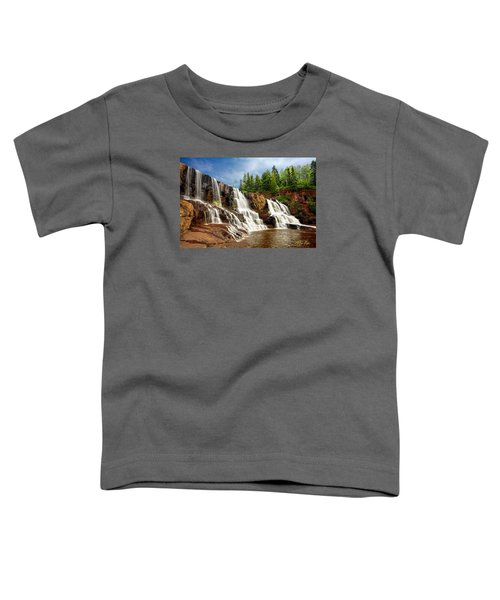 Toddler T-Shirt featuring the photograph Gooseberry Falls by Rikk Flohr