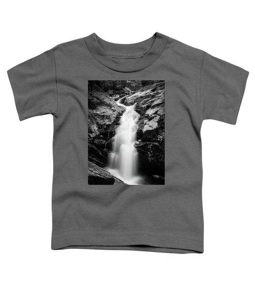 Gorge Waterfall In Black And White Toddler T-Shirt