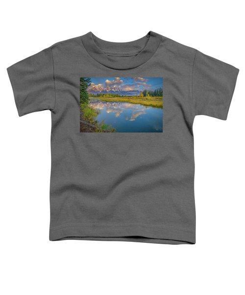 Grand Teton Morning Reflection Toddler T-Shirt