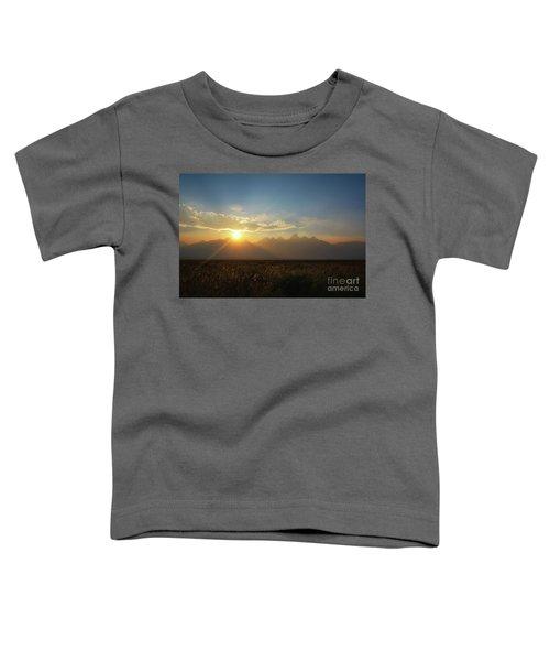 Grand Teton Open Plains Sunset Toddler T-Shirt