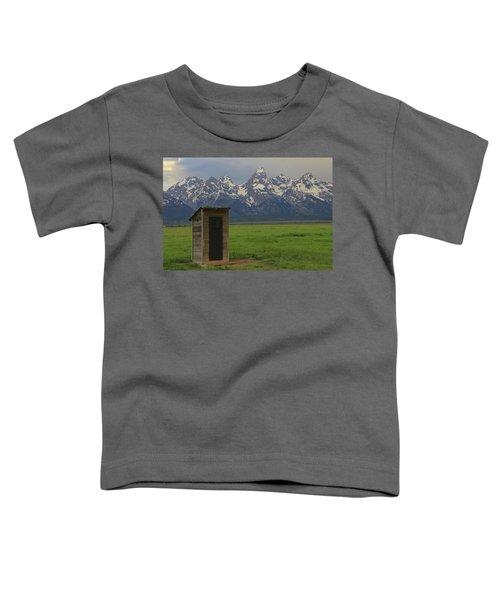 Grand Teton Outhouse Toddler T-Shirt