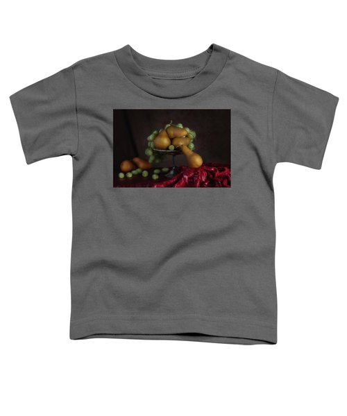 Grapes And Pears Centerpiece Toddler T-Shirt