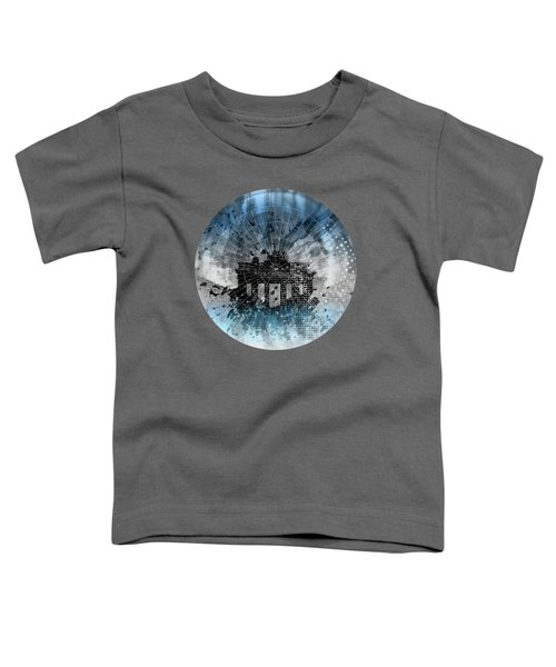 Graphic Art Berlin Brandenburg Gate Toddler T-Shirt by Melanie Viola
